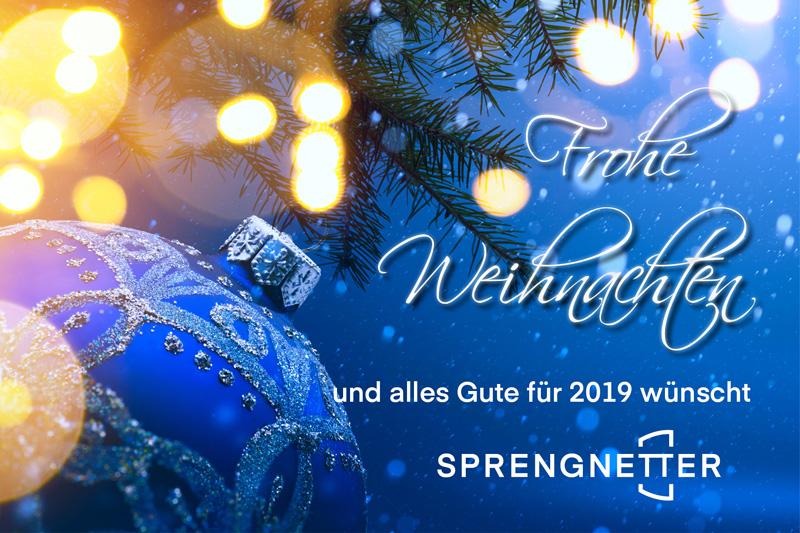 Weihnachten 2019 österreich.Frohe Weihnachten Und Alles Gute Für 2019 Sprengnetter österreich
